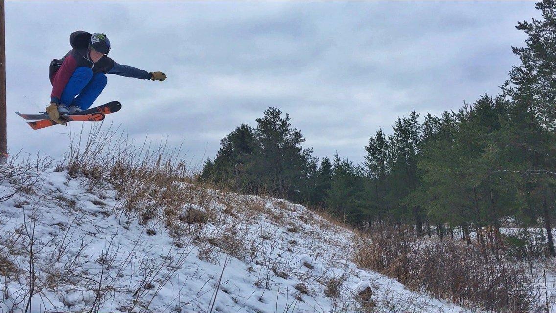Early season bungee skiing