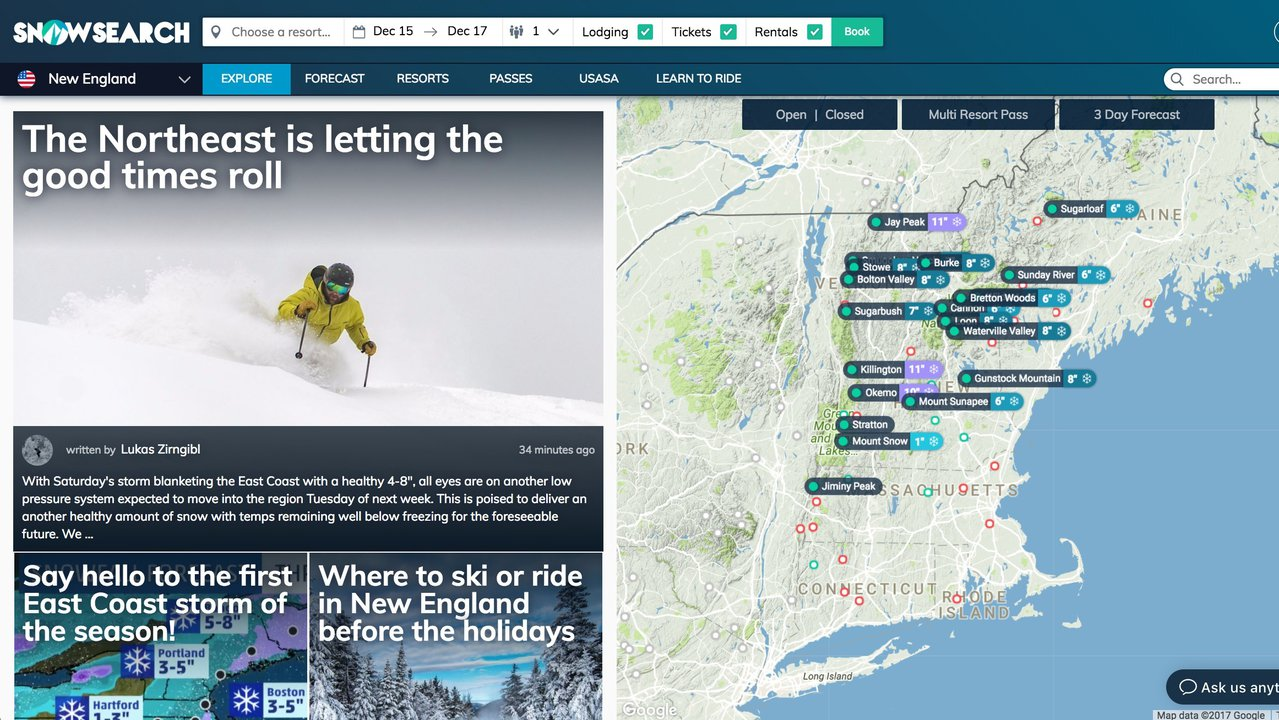 "SnowSearch launches new platform that is basically ""Kayak"" for Skiing"