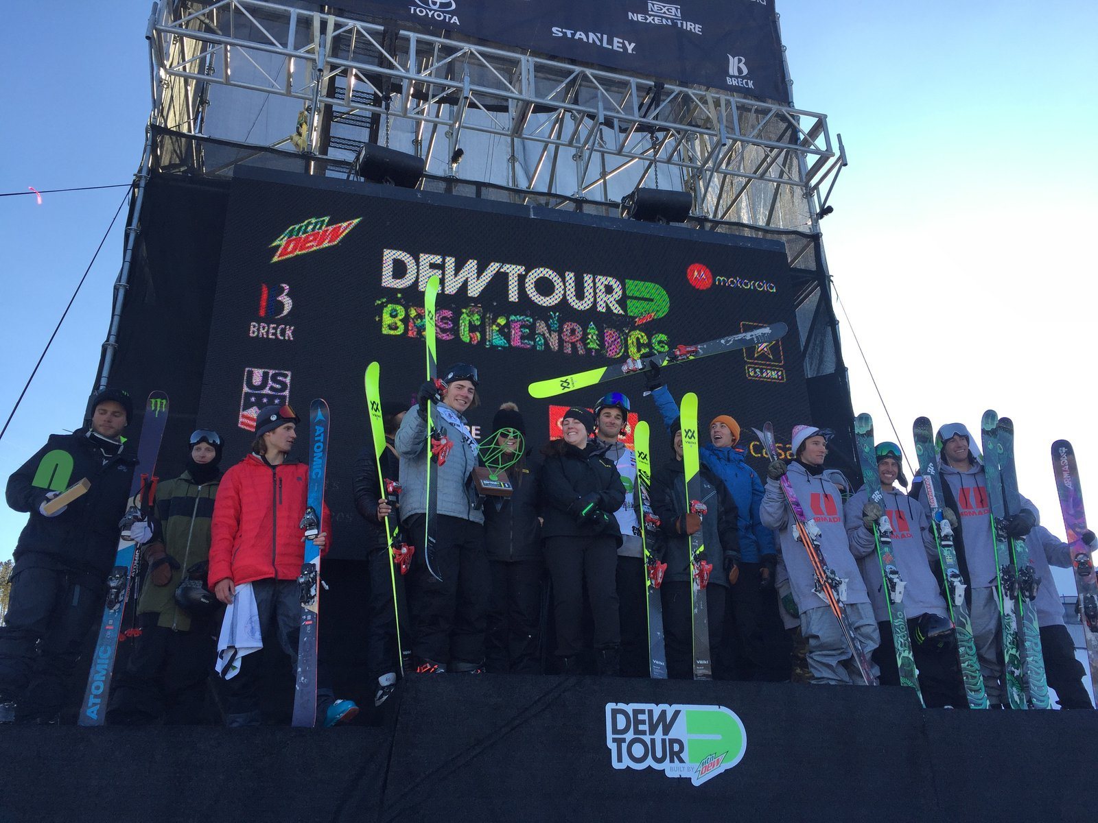 Dew tour podium