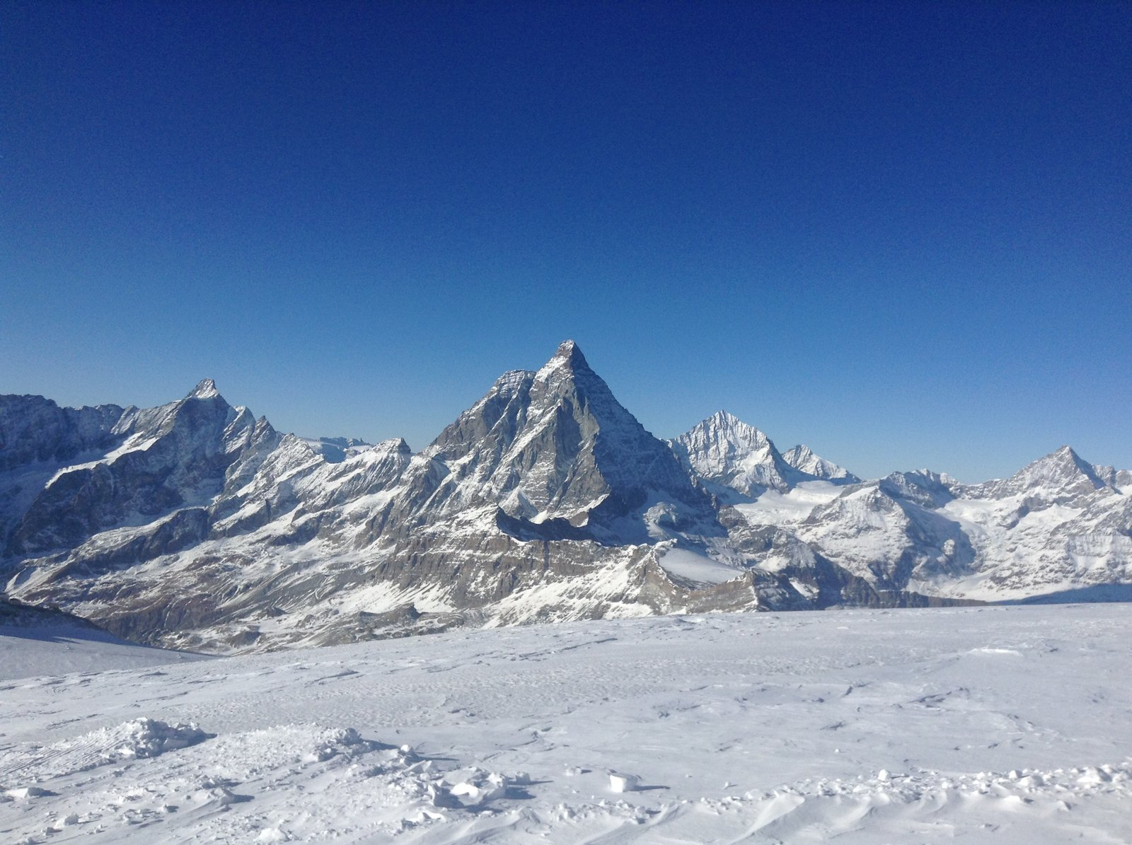 Skiing in Cervinia, Italy