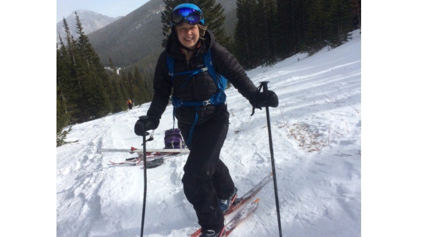 Mom Just Happy To Be Skiing With You