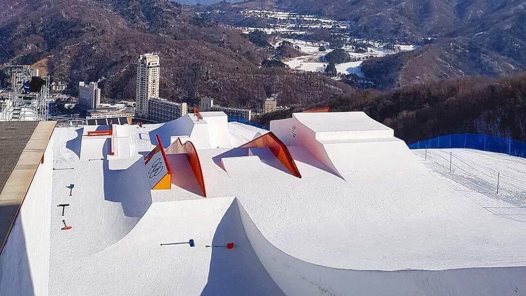 2018 Pyeongchang Olympic Ski Slopestyle Course First Looks