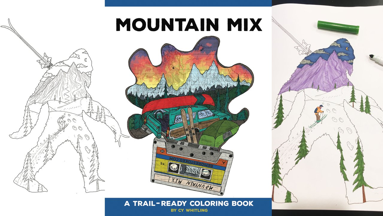Mountain Mix: The Coloring Book For Skiers