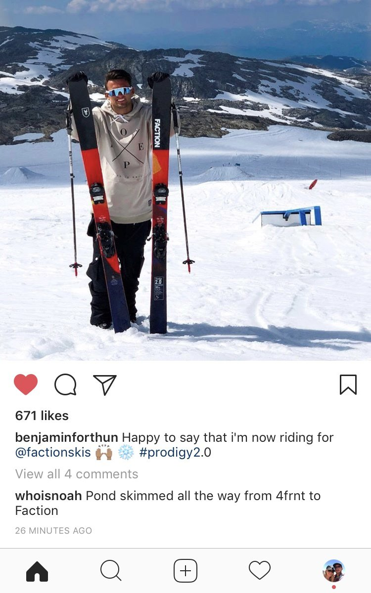 Ben Forthun now riding for Faction