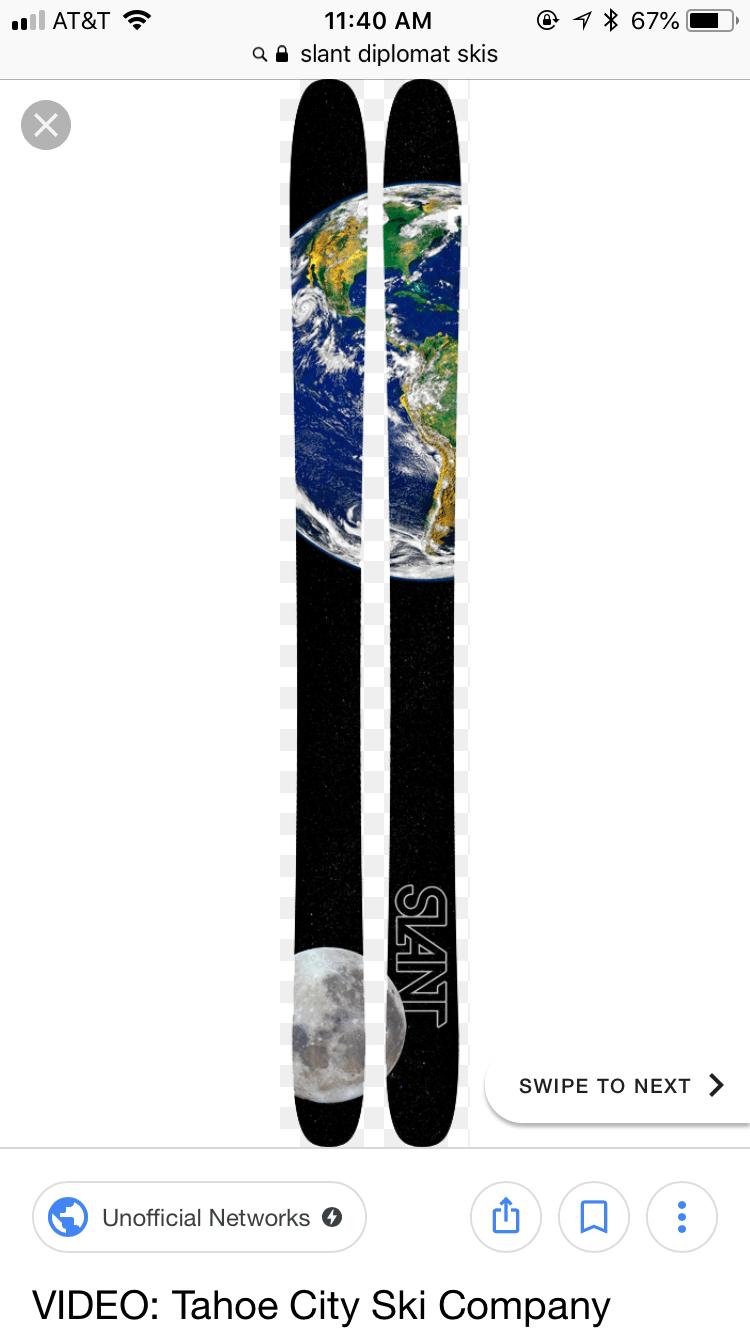 *BRAND NEW* Slant Diplomat Skis 170cm