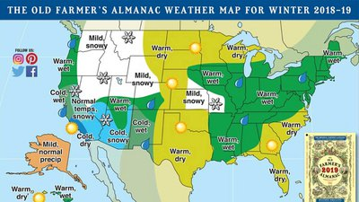 The Old Farmer S Almanac 2019 Winter Weather Forecast For Canada