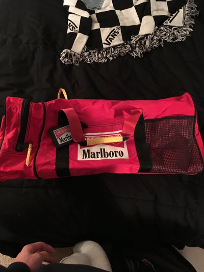 7d87dd397c Marlboro Duffle bag just a novelty, brand new. zippered shoe pouch on the  end and a ID card too $20 + shipping