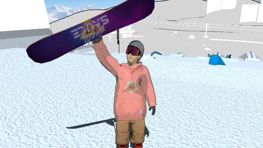 Test out snowboarding in Shredsauce