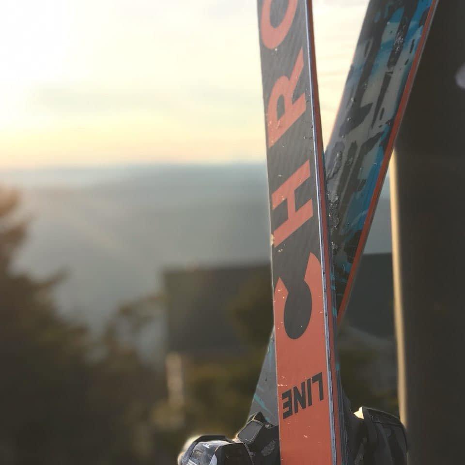 Ski on snowshoe