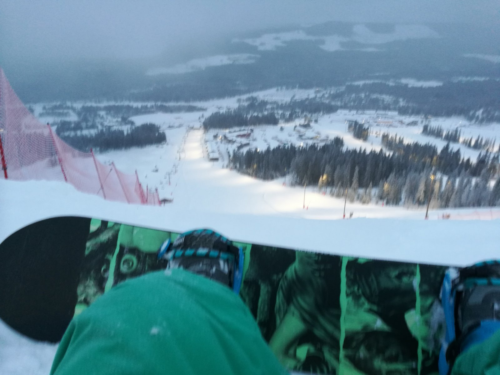 Snowing and great conditions yestetday 😀