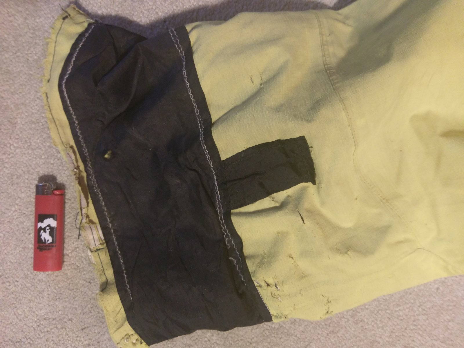 Oakley cuff damage left leg