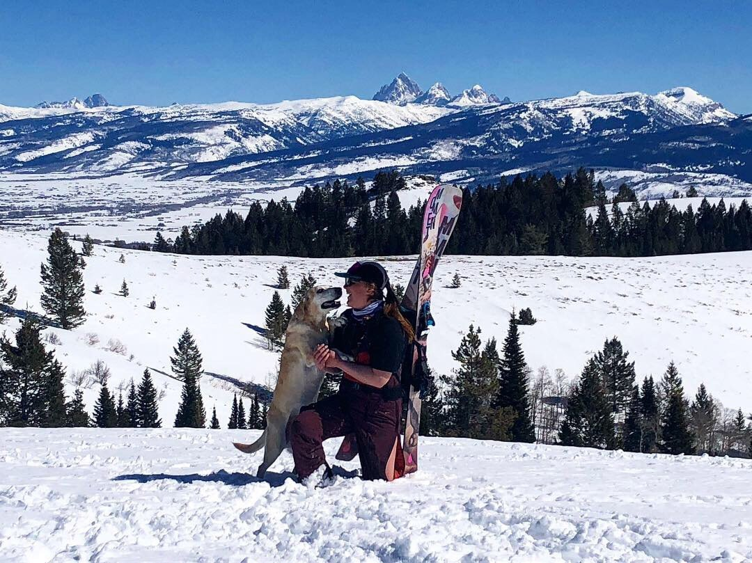 Spring in the Tetons feat dog