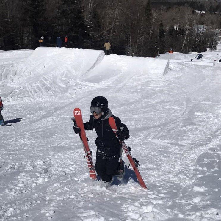 Sunny Ski Session