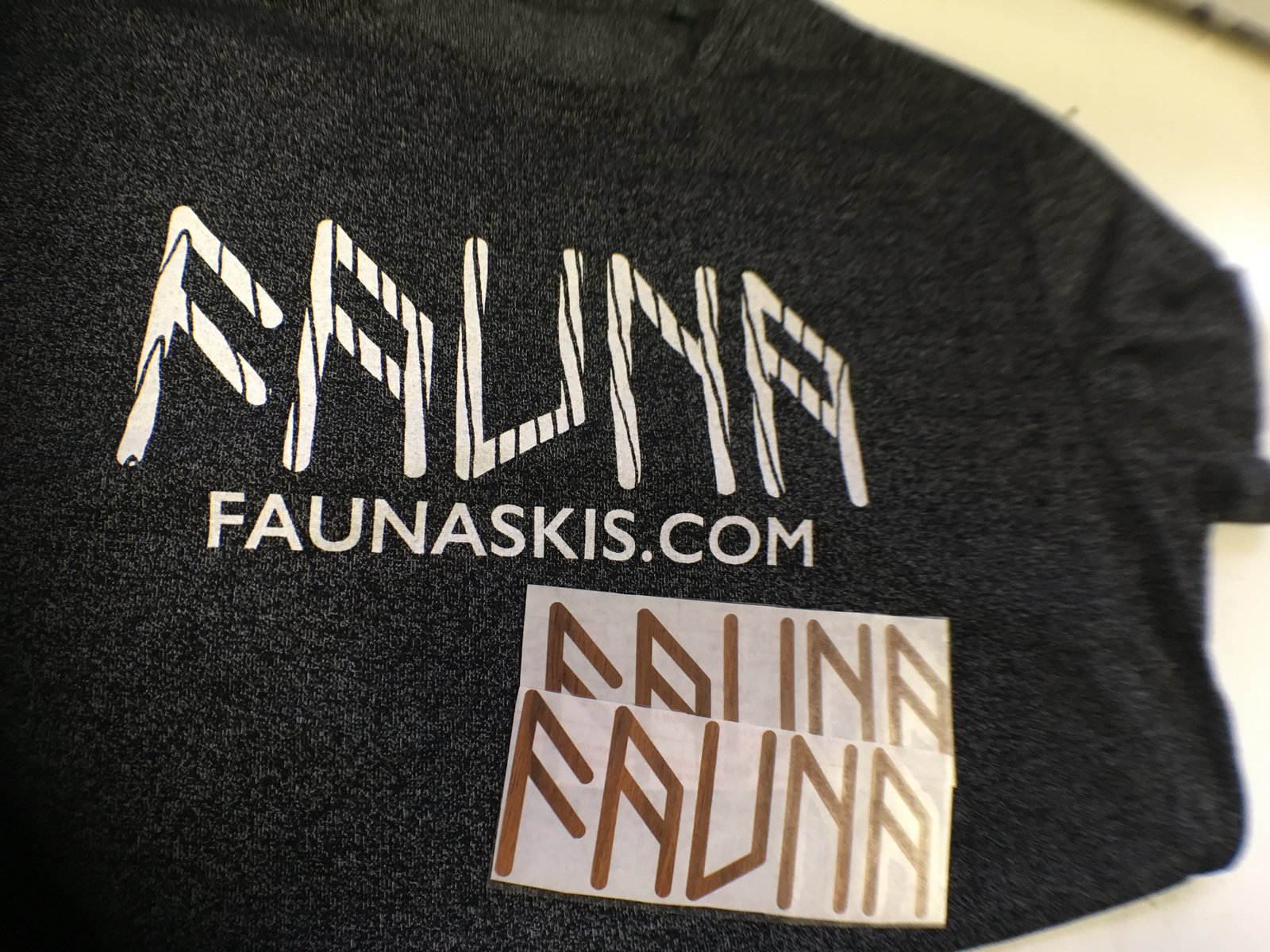Fauna Skis Tee & Stickers