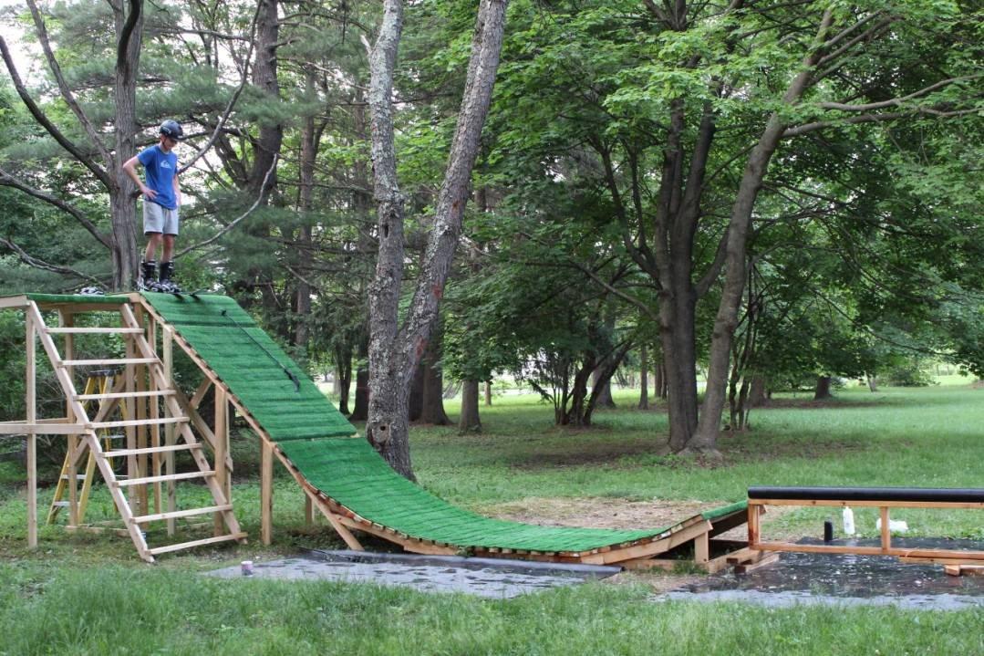 Backyard Summer ski setup