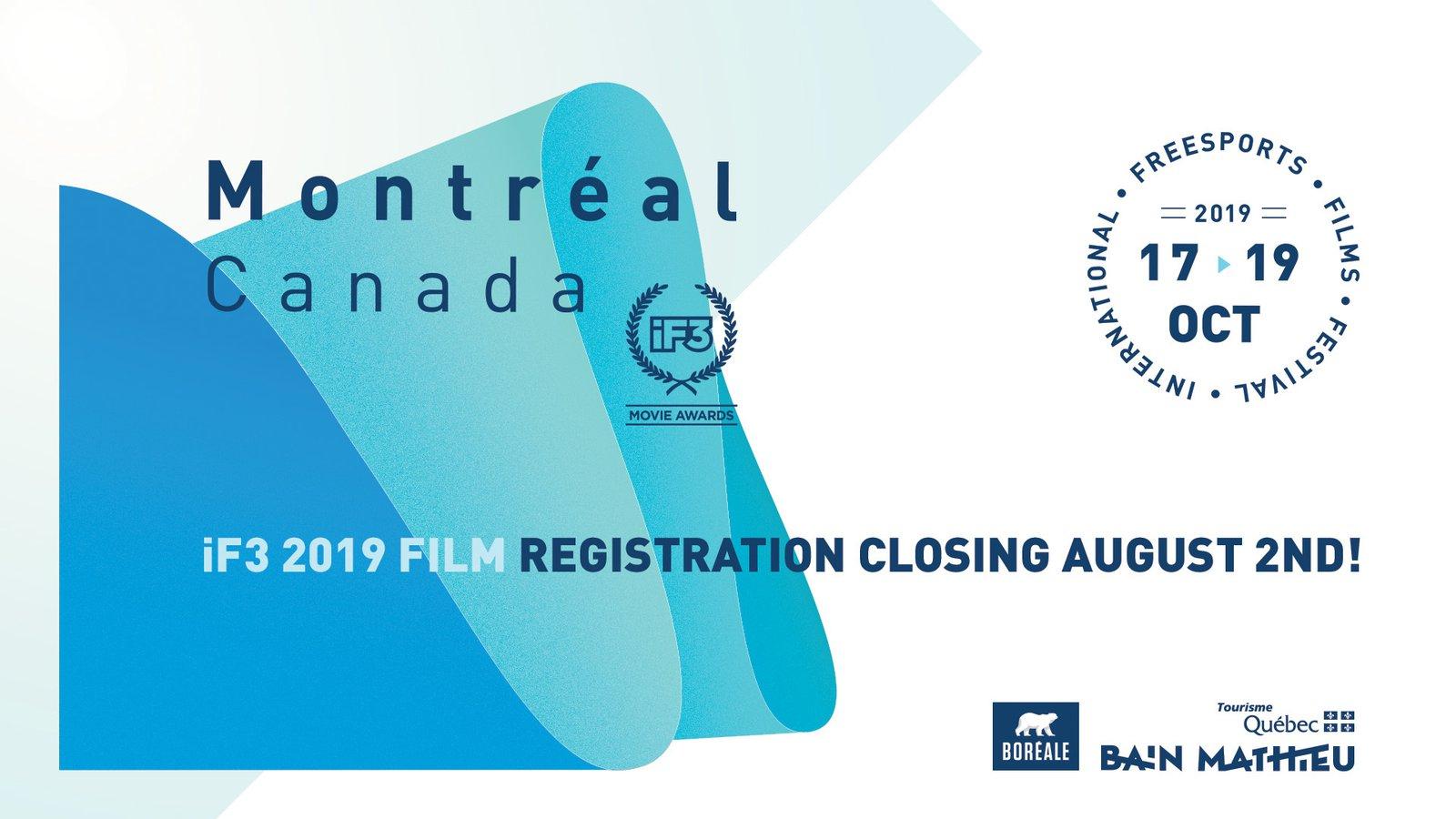 iF3 2019 Film Registration Closing date