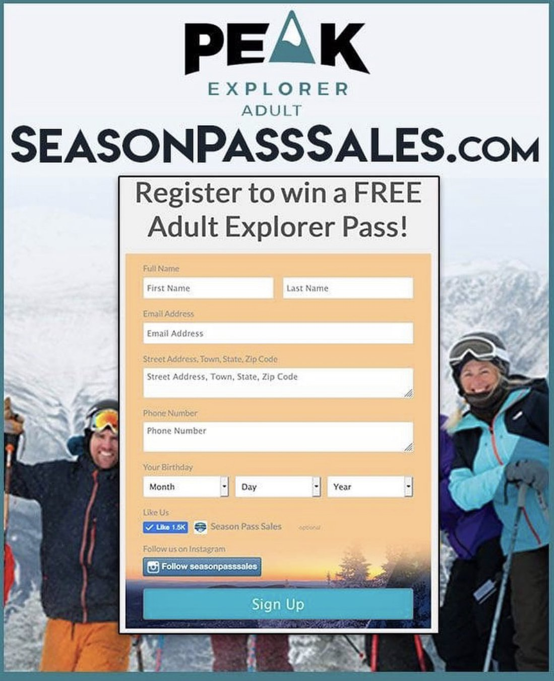 I'm giving away a FREE 2019/2020 Peak Pass