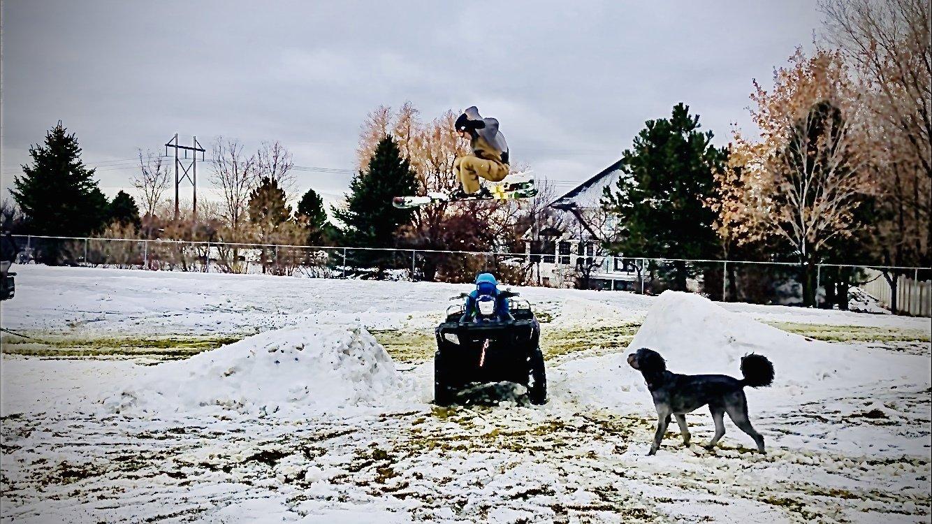 Nothing better than backyard skiing!!
