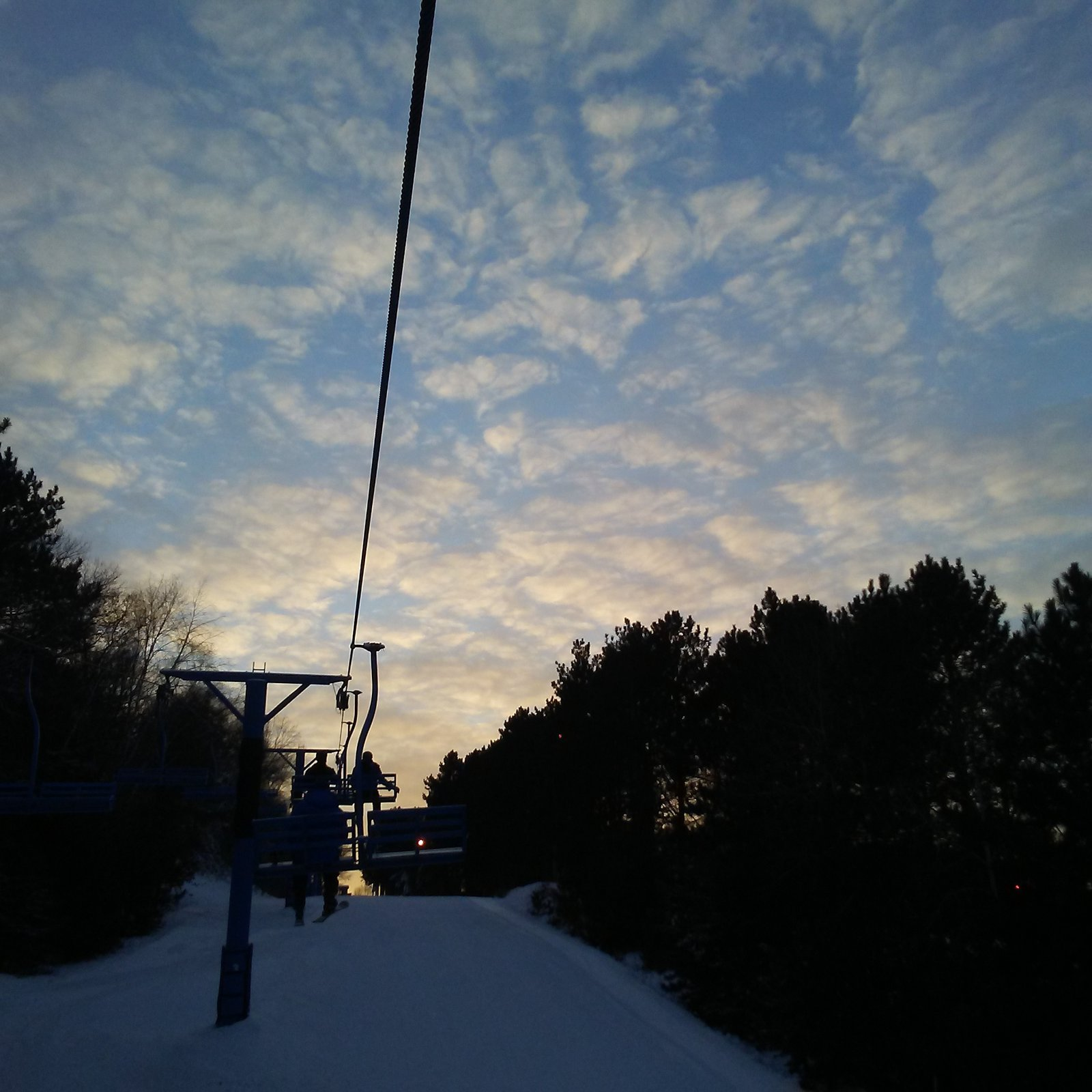Chairlift sunset