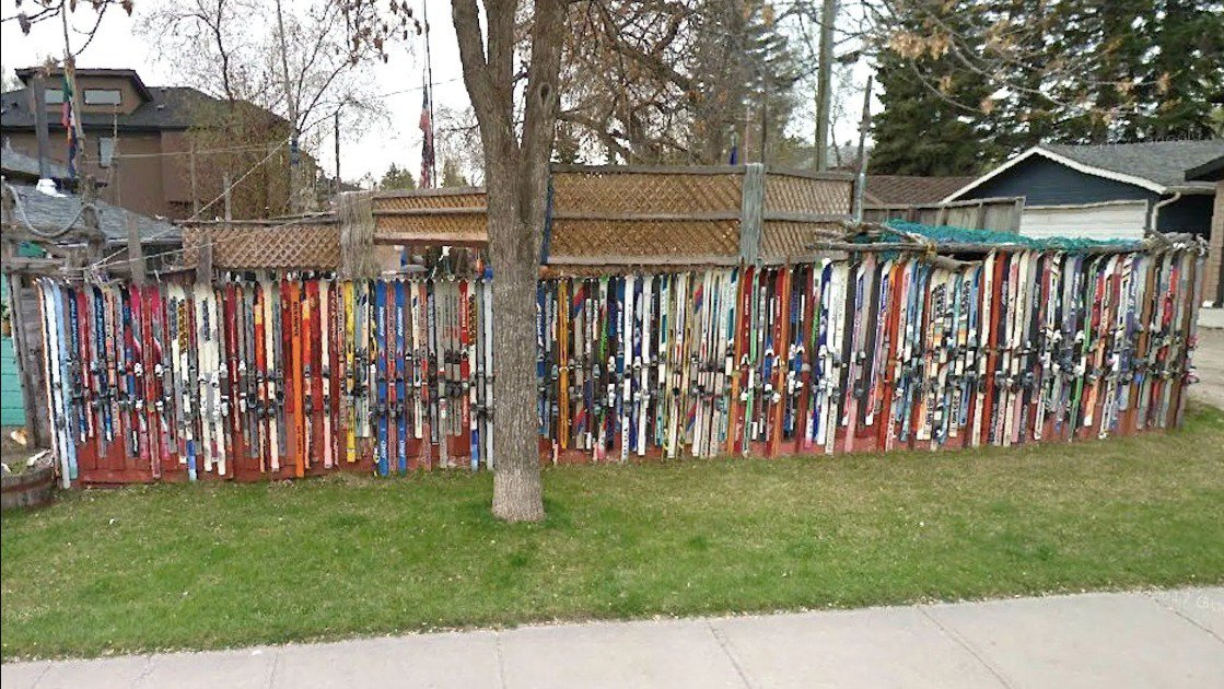 Rest in Peace Legendary South Calgary Ski Fence