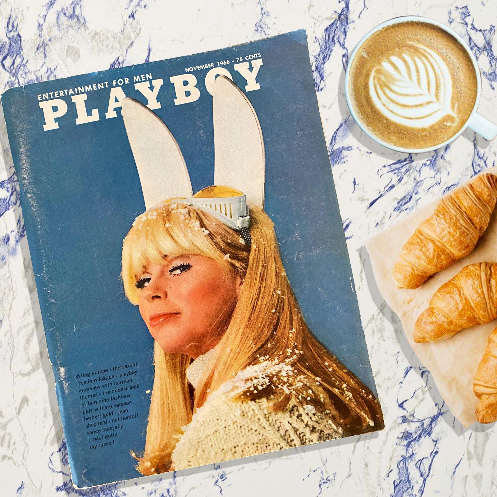 1966 Vintage Magazine (SFW) - Ski Europe - A light morning read.