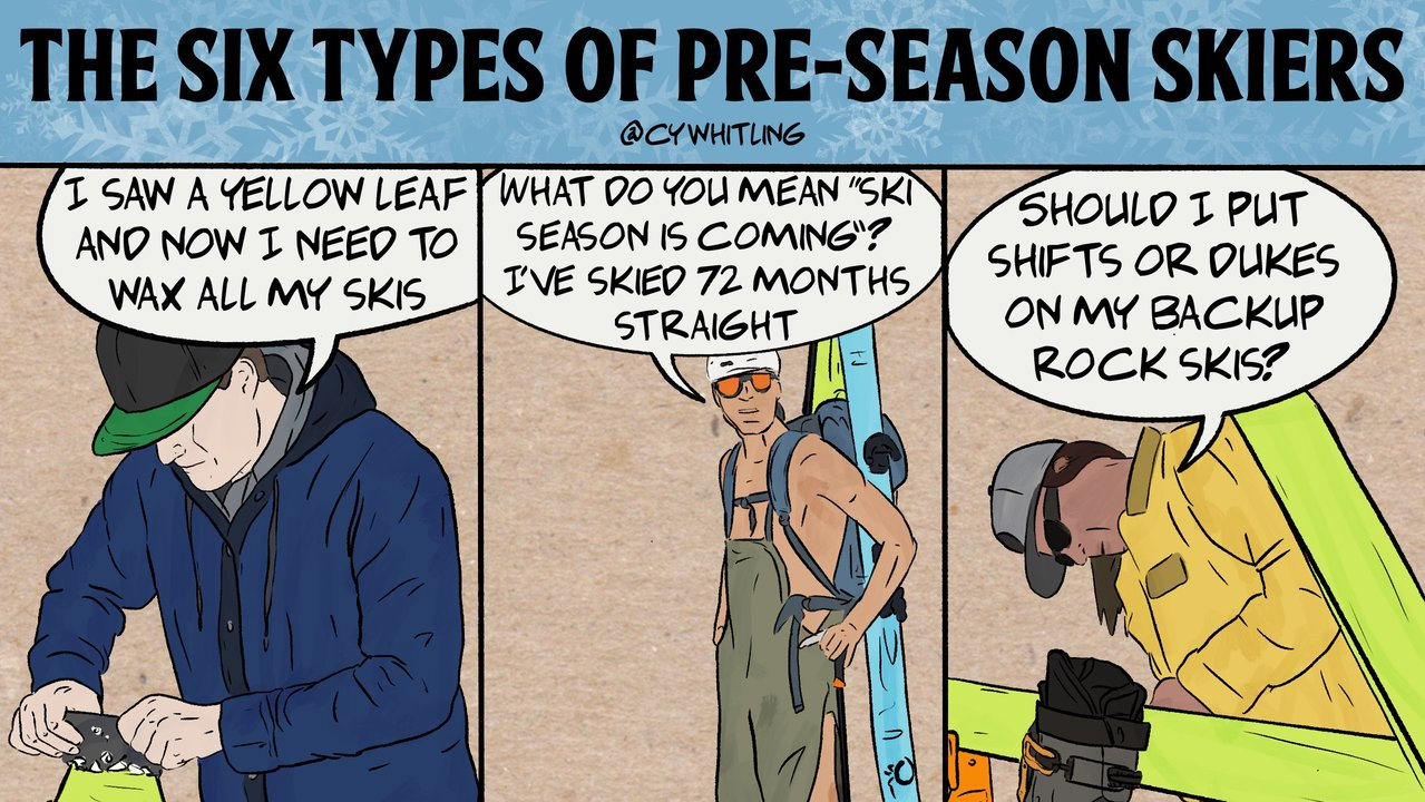 The Six Types of Pre-Season Skier