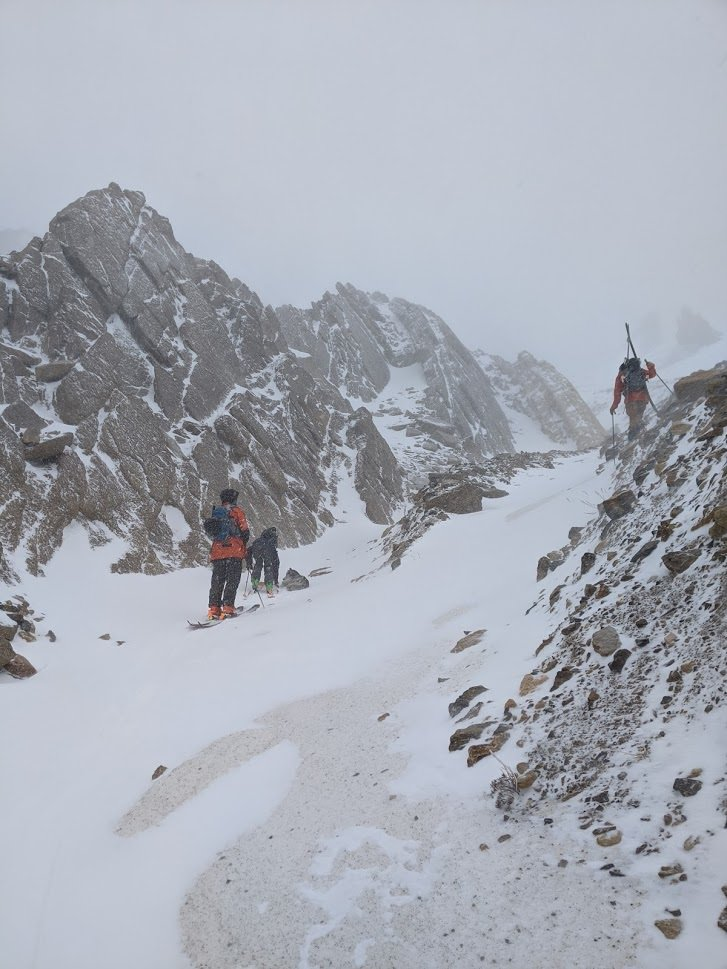 The search for snow covered rocks