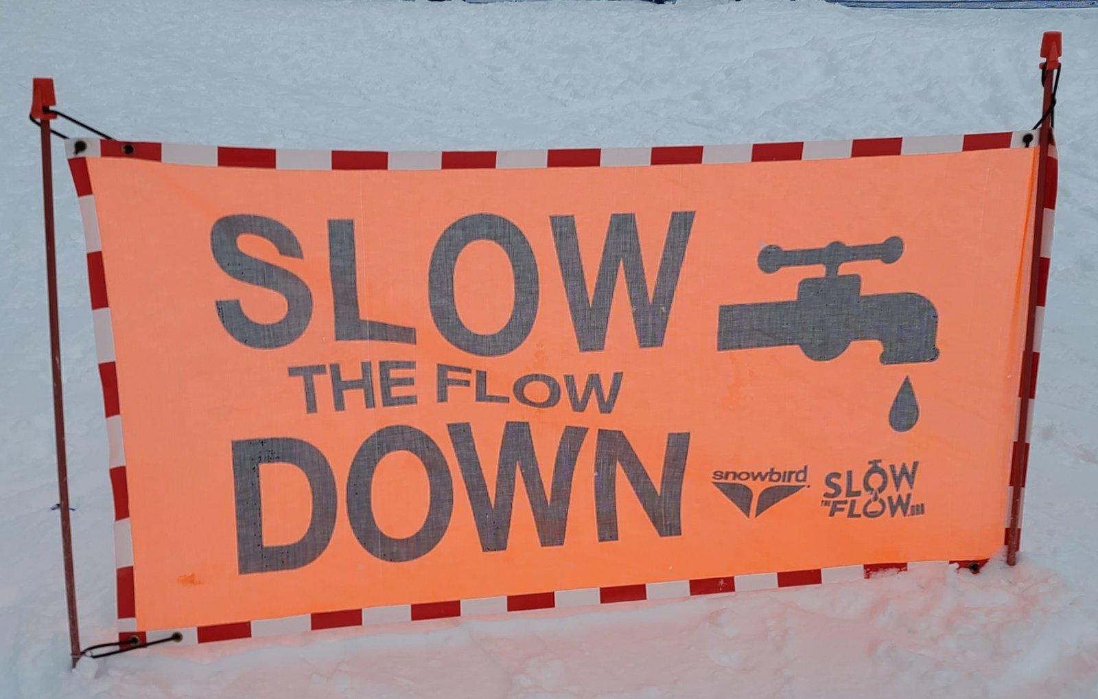 Entering Slow Zone
