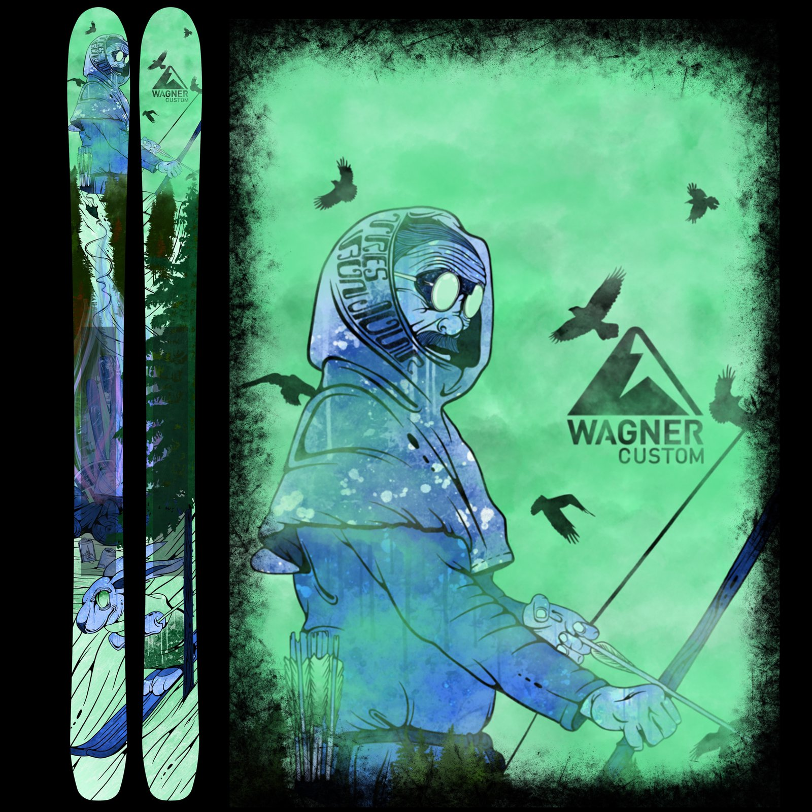 Taylor's Graphic for Wagner Skis