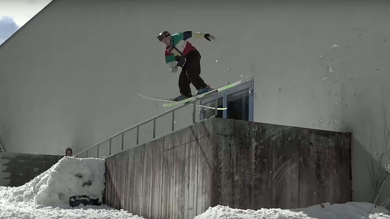 """""""Street skiing has been portrayed as something only pros can do"""" but b-mack says that's not the case!"""