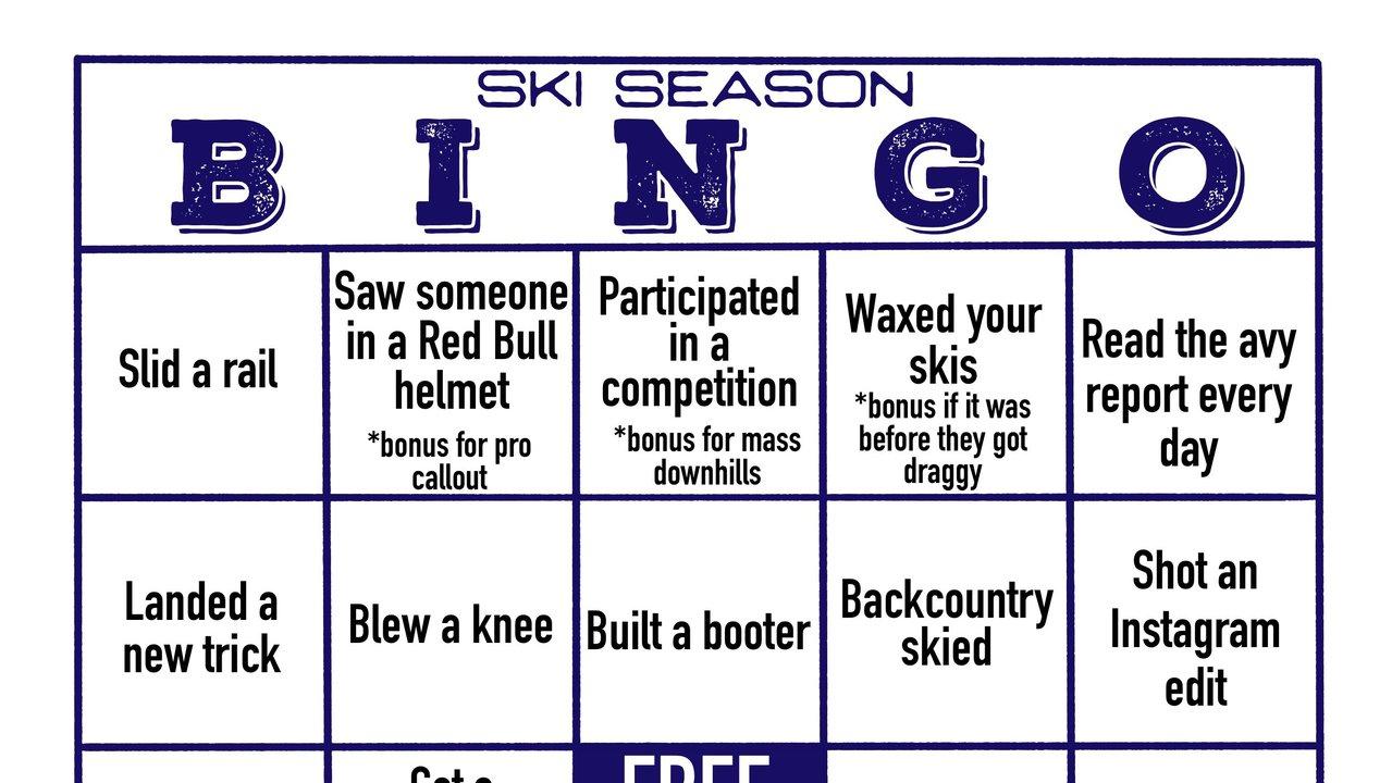 Ski Season Bingo