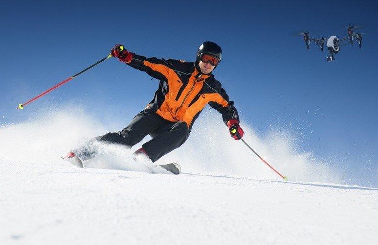 Ski + Proffesional Drone